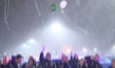 Balloons were released into the air in memory of the Sandy Hook shooting victims.