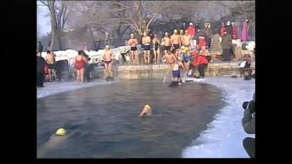They believe that swimming in icy water shows their physical and mental toughness.