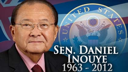 "The president said, quote, ""Danny Inouye was perhaps my earliest political inspiration."""
