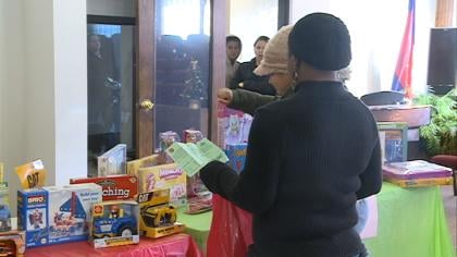 The Salvation Army is distributing Christmas toys and food baskets for 600 families.