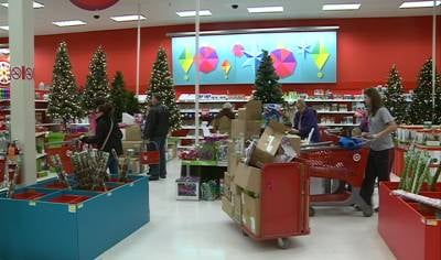 Shoppers looking for deals at Target in Sioux City the day after Christmas.