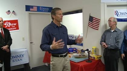 File picture of Senator John Thune in Sioux City.