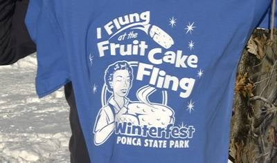 T-shirt commemorating 1st ever Winterfest at Ponca State Park.