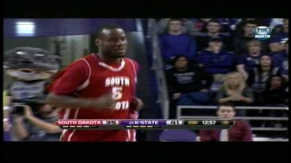 Juevol Miles, a Kansas State transfer, had 13 points in South Dakota's 70-50 loss to the #25 Wildcats.