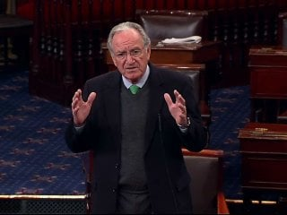 Harkin said he objected to the extension of tax breaks to those making more than $450,000 a year.