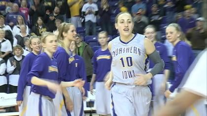 Northern Iowa senior Jacqui Kalin was named the MVC Player of the Week for the second time this season.