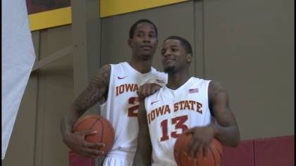 Will Clyburn (left) scored 14 of his team-high 17 points in the second half as Iowa State survived Yale's upset bid 80-70 on Tuesday.