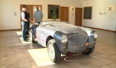 John Nikas and the Austin Healey car nicknamed Grace are traveling all 50 states in one year.