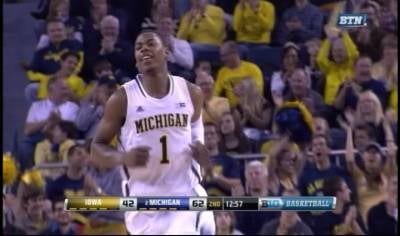 Glen Robinson III scored 20 points as Michigan handed Iowa its second Big Ten loss.