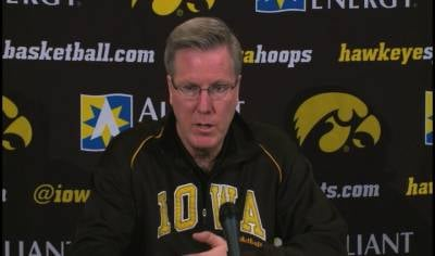 "Fran McCaffery says Iowa's defensive effort against Michigan on Sunday was ""disappointing""."