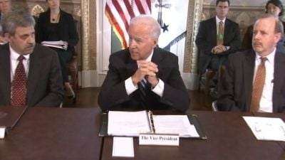 Vice President Joe Biden's task force meets with the gaming industry.
