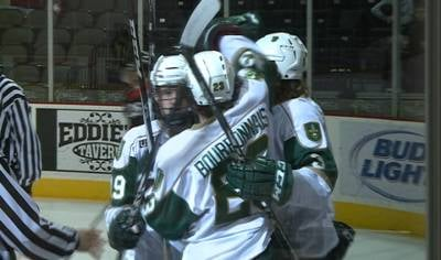 Riley Bourbonnais scored 9 goals while playing for Sioux City.