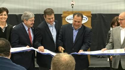Sabre Industries cut the ribbon on its new 192,000 square foot facility.
