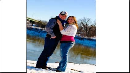 Get Fit participant Andrea Fleck and her husband.