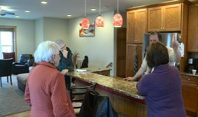The Lenz Family now make the 2nd floor of their house, the main living quarters, just in case flood waters rise again.