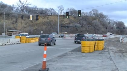 By spring a new ramp will allow some cars to make a turn onto the I-29 from Wesley Parkway.