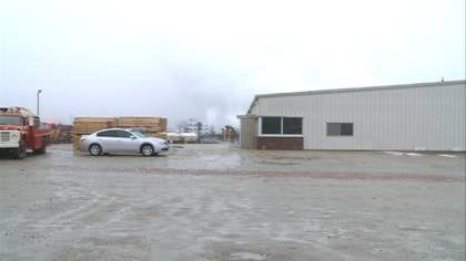 Firefighters were called to Gomez Pallet Company over the weekend.
