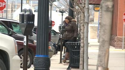 Folks in Downtown Sioux City protect themselves from the brutal cold.