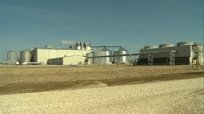 The Poet biorefinery near Emmetsburg, Iowa is one of 13 in the state that produce cellulosic ethanol