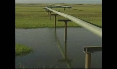 File image of the first Keystone oil pipeline that crosses eastern Nebraska