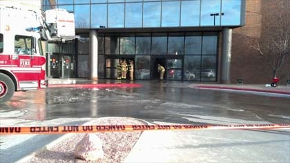 Cold weather created a water and ice mess at the Ho-Chunk Centre in downtown Sioux City Friday morning.
