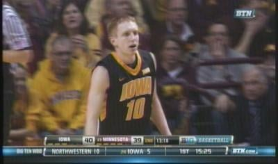 Mike Gesell had led Iowa with 11 points and six rebounds in the loss to Minnesota.
