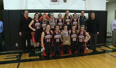 Homer won the Lewis &amp; Clark Conference tournament title with a 54-37 win over Wynot.