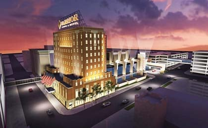  The company plans to turn the Warrior Hotel and Davidson buildings into a $122 million casino complex.