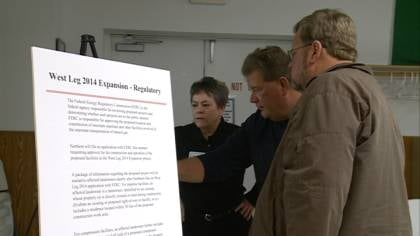 Northern Natural Gas Company held an open house for those wanting for information on the proposed pipeline.