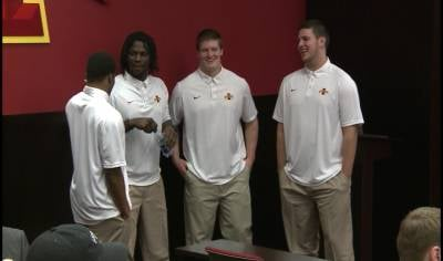 Iowa State has four football recruits already on campus in Ames.