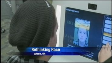"The exhibit, ""Rethinking Race,"" is to have people put themselves in other people's shoes."