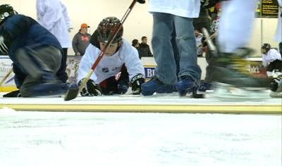 80 children attended the free hockey clinic in 2012, with nearly a quarter joining a league after.