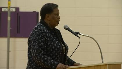 Joanne Bland spoke to students at West Middle School about civil rights activism in the 1960s.