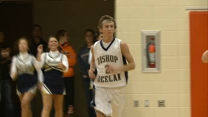 Shane Graves had 22 points in Bishop Heelan's 58-53 win over Le Mars on Friday night.