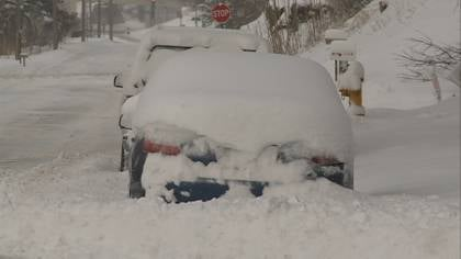 Last week's snow storm left many cars buried in Sioux City