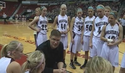 #1 Western Christian beat Pella Christian, 65-28, in a first round game at the state tournament.