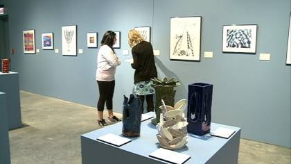 Exhibit displays 94 art projects from middle school students.