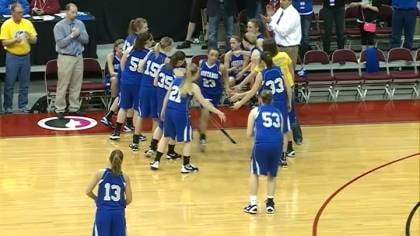 Newell-Fonda got off to a fast start and rolled past Marquette Catholic 69-52 to reach the Class 1A championship game.