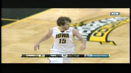 Zach McCabe helped Iowa beat Purdue, 58-48, on Wednesday night in Iowa City.