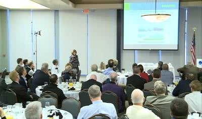 Debi Durham, the director of the Iowa Economic Development Authority, was the featured speaker.
