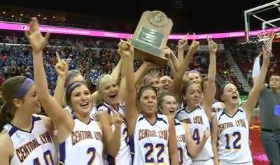 Central Lyon won the Class 1A championship with a tense 63-61 victory over Newell-Fonda.