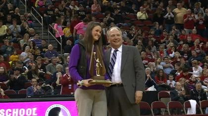Kelsey Bolte was inducted into the IGHSAU in her first year of eligibility.
