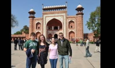 These four Siouxland students spent 10 days in India, and took part in an international space design competition.