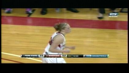 Lindsey Moore scored 23 points in her final home game at Nebraska.
