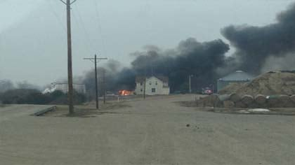 First pictures emailed from US92's Mike Flood at the scene.