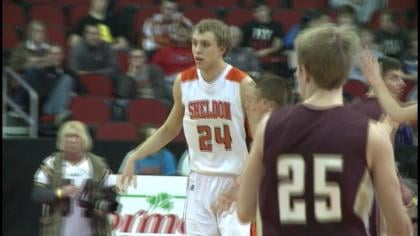 Sheldon shot 57% and beat Pella Christian, 63-57, in a first round game at the state tournament.