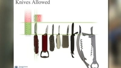 Knives allowed.