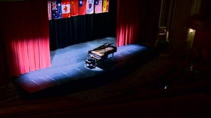 At stake in this piano competition: $14,000 in cash prizes.