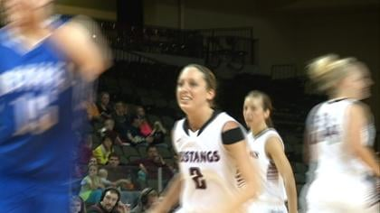 Chelsie Trask and the Mustangs are in the Fab Four for the second time in three years.