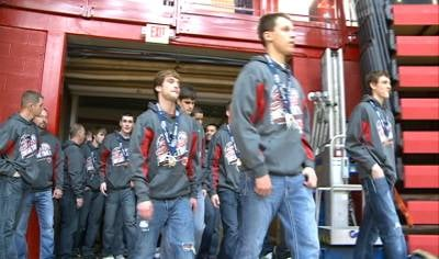 The state championship boys basketball team from South Sioux City was honored with a welcome home celebration on Tuesday.